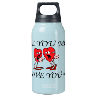 'Love is in the air' Hot & Cold (0.3L), Teal Insulated Water Bottle