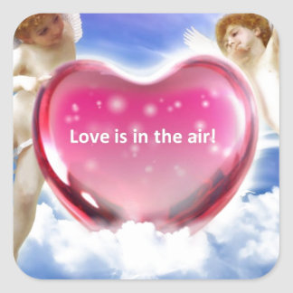 Love is in the Air.jpg Square Sticker