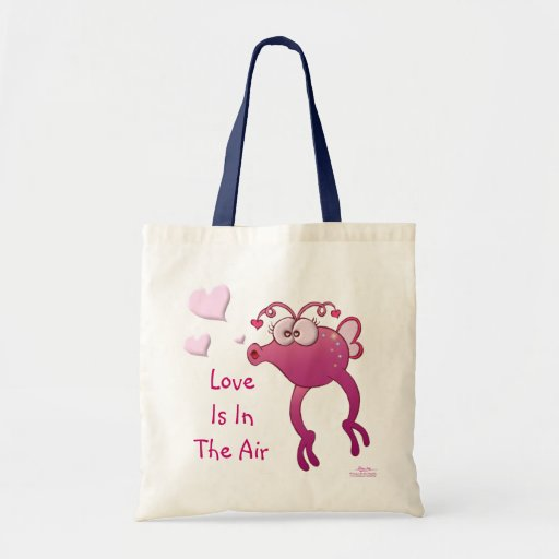 """""""Love Is In The Air"""" Love Bug Canvas Bag"""