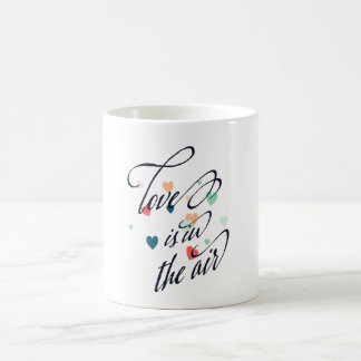 Love Is In The Air Multicolor Hearts Coffee Mug