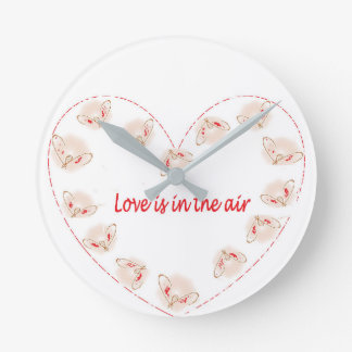 Love is in the air round clock