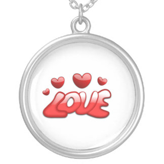 Love is in the Air Round Pendant Necklace