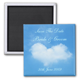 Love Is In The Air Save The Date Square Magnet