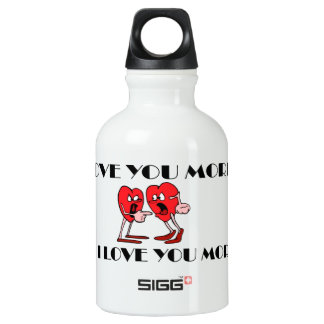 'Love is in the air' Traveller (0.3L), White Water Bottle