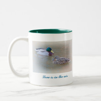 Love is in the air Two-Tone mug