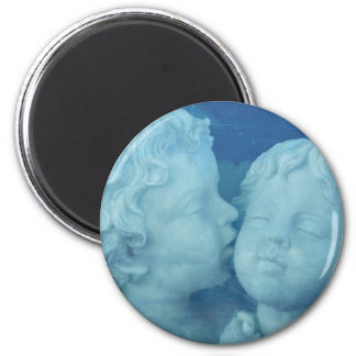 Love is in the Air, Vintage Stone Angels Kissing Magnet