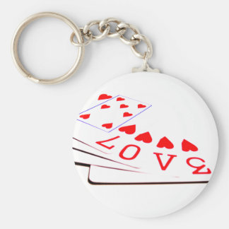 Love is in the Cards Key Ring