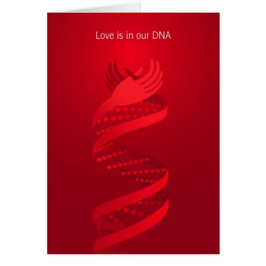 Love is in the DNA Greeting Card