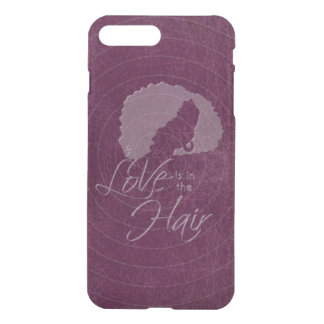 Love is in The Hair purple leather look iPhone 7 Plus Case