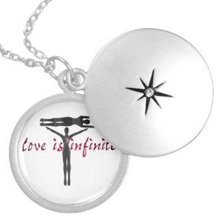 Love Is Infinite Round Locket Necklace