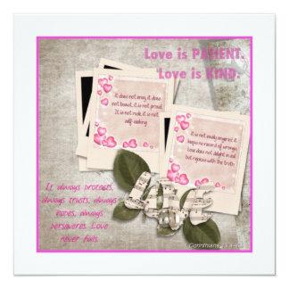 Love is Kind Square Card 13 Cm X 13 Cm Square Invitation Card