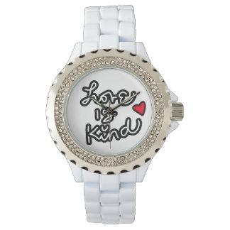 Love is Kind White diamond watch