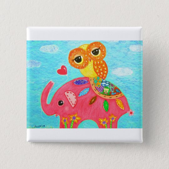 Love Is Like An Elephant 15 Cm Square Badge