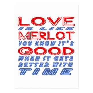 Love is like Merlot. Postcard