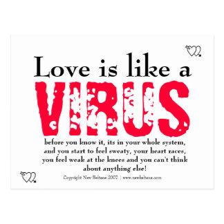 Love is like post card