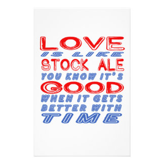 Love is like Stock Ale. Stationery Design