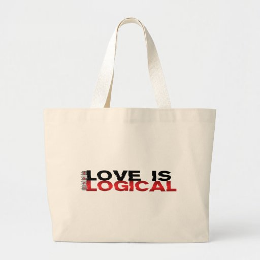 Love Is Logical Canvas Bags