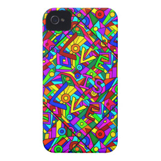 LOVE IS LOVE! (a multi-colored tile design) ~ Case-Mate iPhone 4 Cases