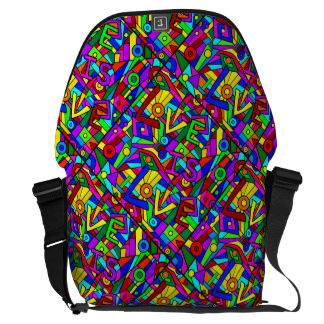 LOVE IS LOVE! (a multi-colored tile design) ~ Commuter Bag