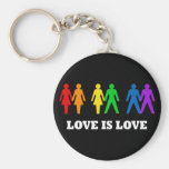 Love is Love Basic Round Button Key Ring
