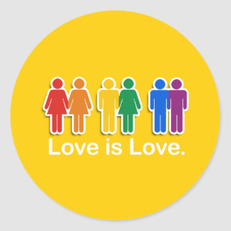 LOVE IS LOVE BASIC ROUND STICKER