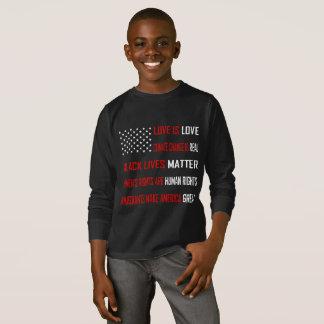 Love is Love Boy's Dark Long Sleeve T-Shirt