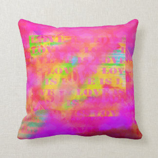 Love is love bright colorful abstract throw pillow
