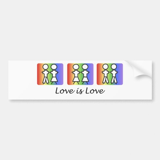 Love is Love Car Bumper Sticker
