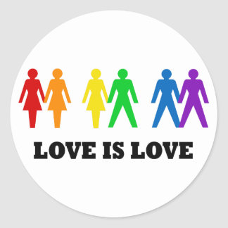 Love is Love Classic Round Sticker