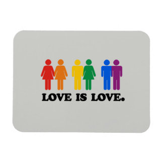 LOVE IS LOVE COLORS -.png Magnets