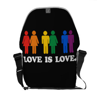 LOVE IS LOVE COURIER BAG