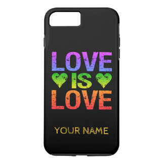 Love Is Love custom monogram phone cases