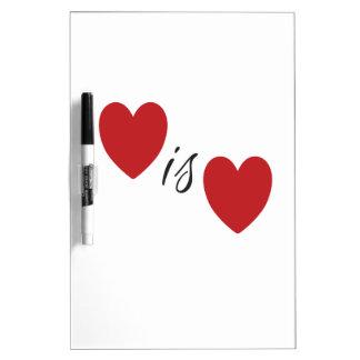 Love is Love Dry-Erase Board