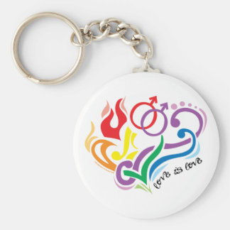 Love Is Love: Gay Basic Round Button Key Ring