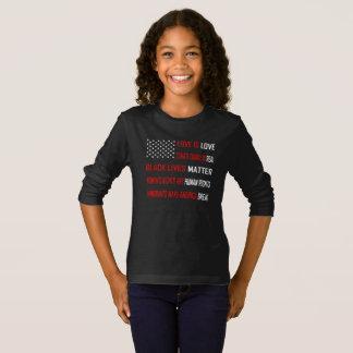 Love is Love Girl's Dark Long Sleeve T-Shirt