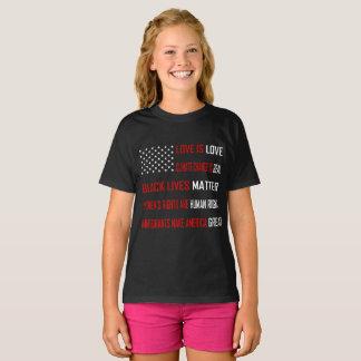 Love is Love Girl's Dark T-Shirt