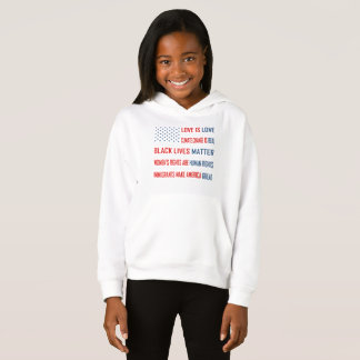 Love is Love Girl's Hoodie