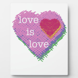 Love is Love Heart Easel Plaque