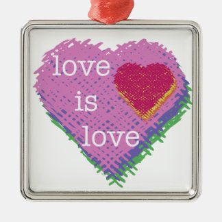 Love is Love Heart Holiday Ornament