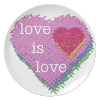 Love is Love Heart Plate