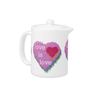 Love is Love Heart Teapot