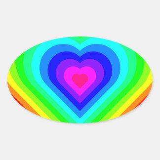 Love is Love in Neon Oval Sticker