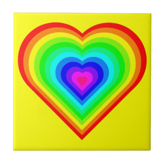 Love is Love in Neon Tile