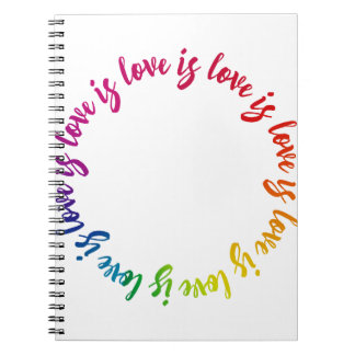 Love is love is love rainbow circle notebooks