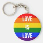Love is love keychain
