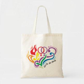 Love Is Love Lesbian Canvas Bags