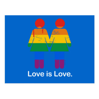LOVE IS LOVE LESBIAN COUPLE -.png Postcard