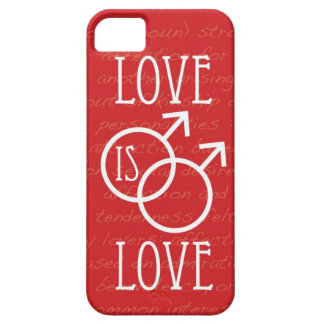 Love is Love (Male) Barely There iPhone 5 Case