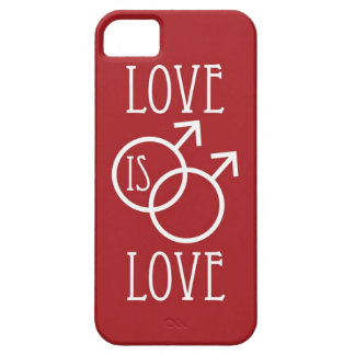 Love is Love (Male) Red Barely There iPhone 5 Case