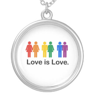 Love is Love. Round Pendant Necklace